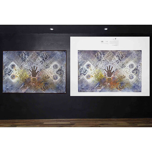 "Cuadros decoracion, Arte NeoCrotalico, ""LA HERRAMIENTA PERFECTA"" Giclee 120X80cm"