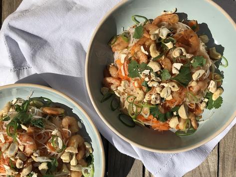 Salade de crevette thaï aux noix de cajou