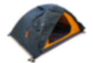 Black and Orange Pup Tent