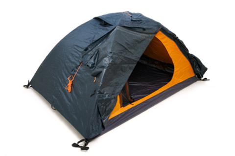 Black and Orange Pup Tent