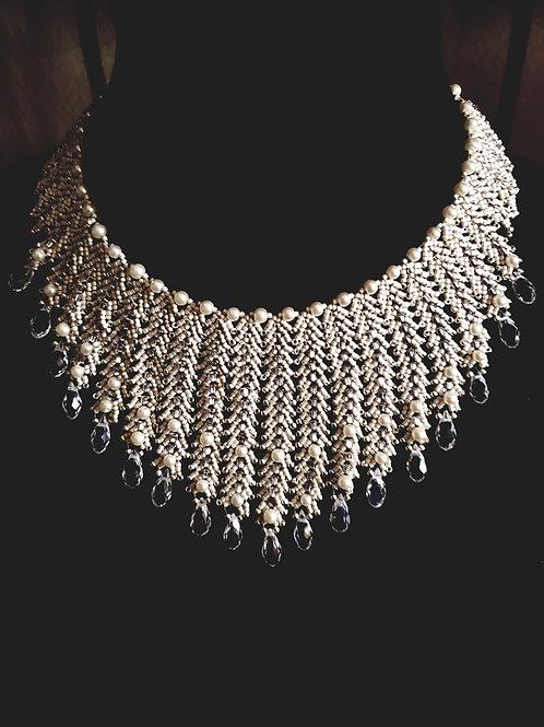 Ice Regal collar necklace