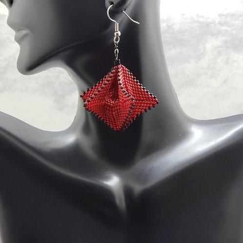 Geometric Twirl Earrings (small)