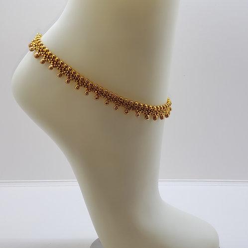 Lacy Ankle Bracelet - Gold