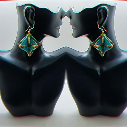 Caribbean Teal earrings
