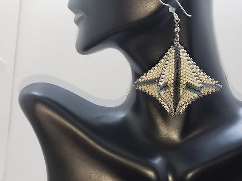 Geometric Twirl Earrings