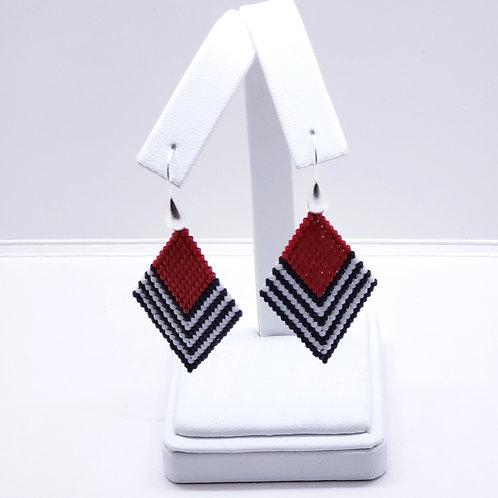 Diamond Striped Earrings