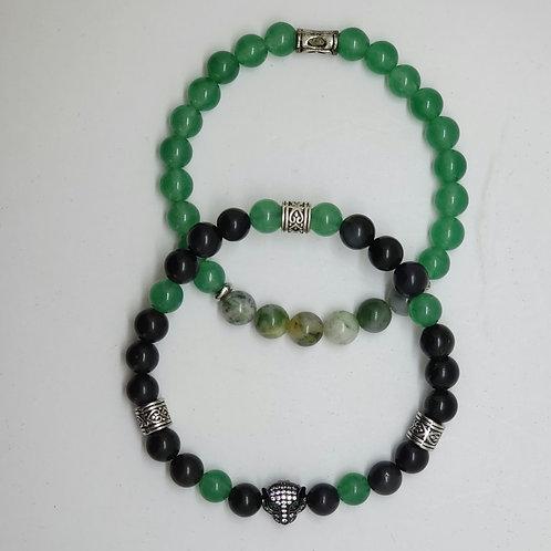 Black Obsidian & Green Aventurine