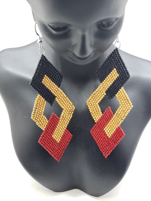 Triple Deck Earrings