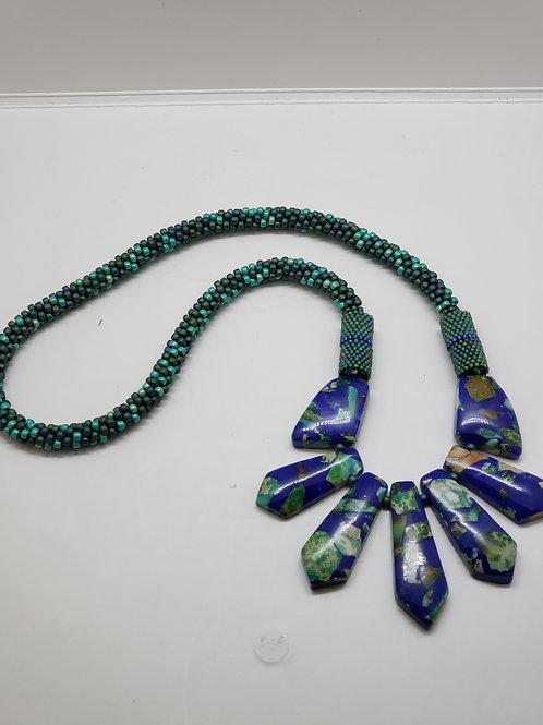Lapis Blue Rockstar necklace
