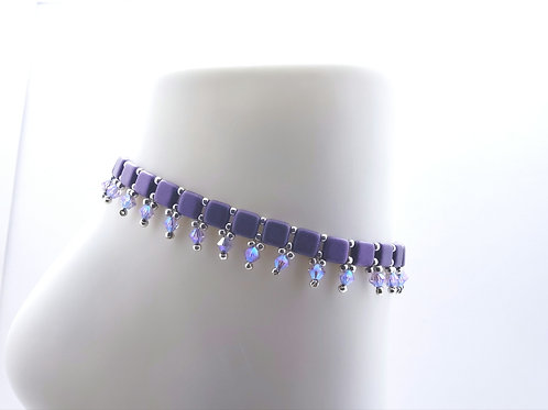 Lavender Bollywood Anklet