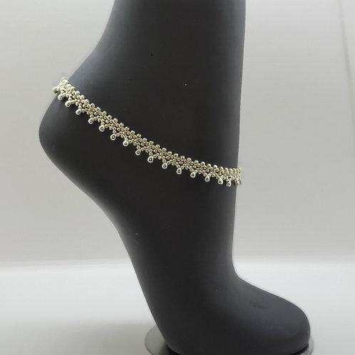 Lacy Ankle Bracelet - Silver