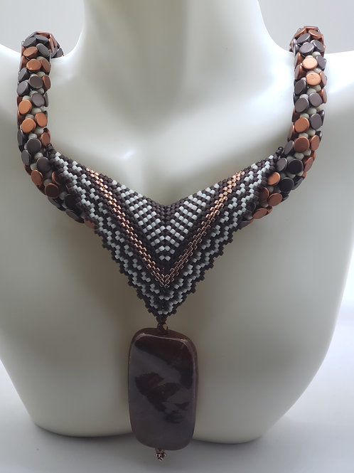 Bronze Pop Star necklace