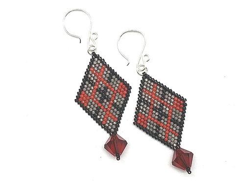 Diagonal Argyle Earrings