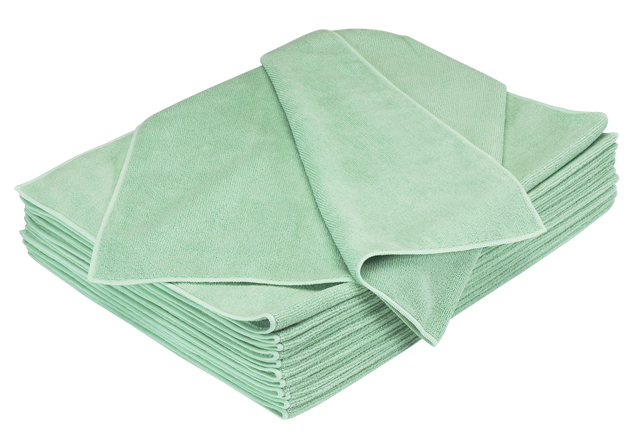 GREEN MICROFIBER TOWEL