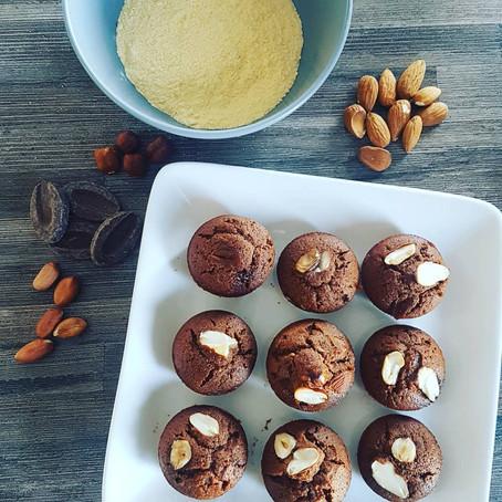 Muffin au chocolat sans gluten