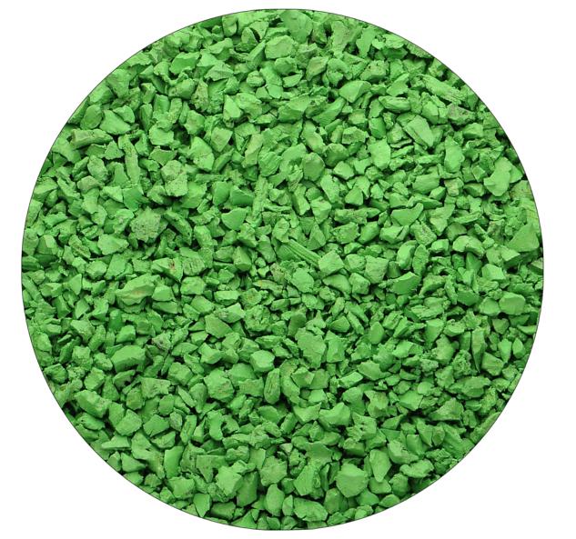 Светло-зелёная резиновая крошка Цветорика