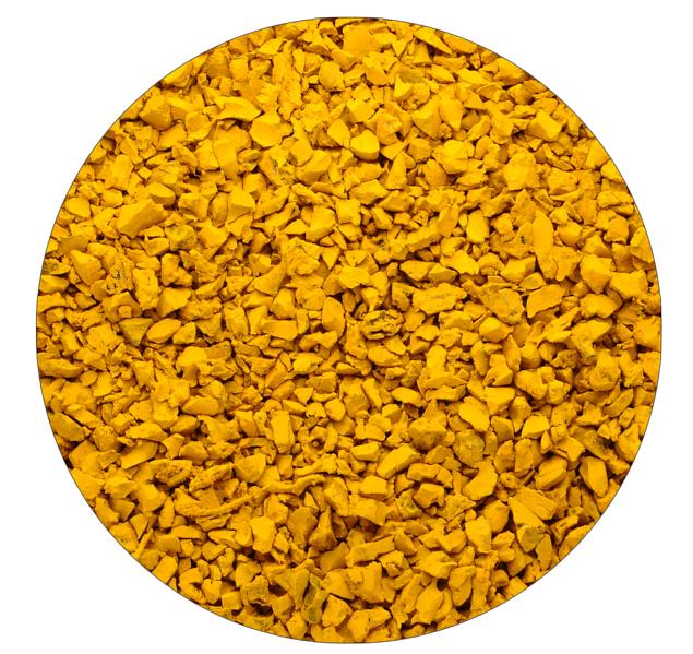 жёлтая резиновая крошка