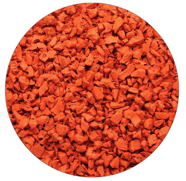 Оранжевая резиновая крошка