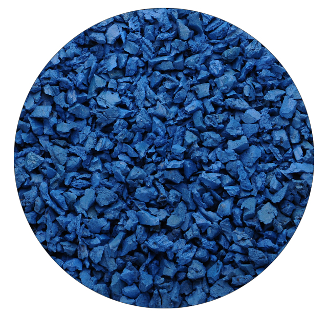 Синяя резиновая крошка Цветорика