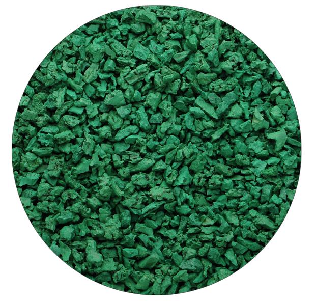 Зелёная резиновая крошка Цветорика