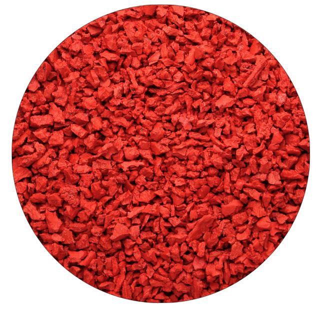 Красная (рубиновая) резиновая крошка