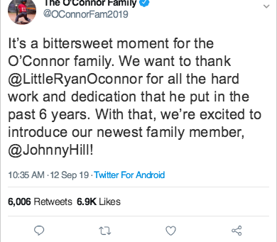 BREAKING: O'Connor's Trade 6-Year-Old Son To Hill Family For 1.5-Year-Old and a Baby To Be Named