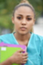 Serious Teen Hispanic Female Nursing Stu
