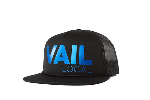 Vail Local Limited Edition Trucker - Metallic Bluebird