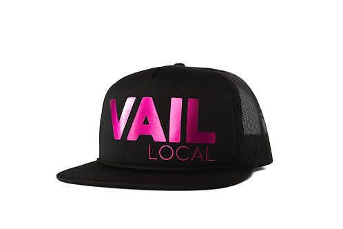 Vail Local Limited Edition Trucker - Metallic Pink