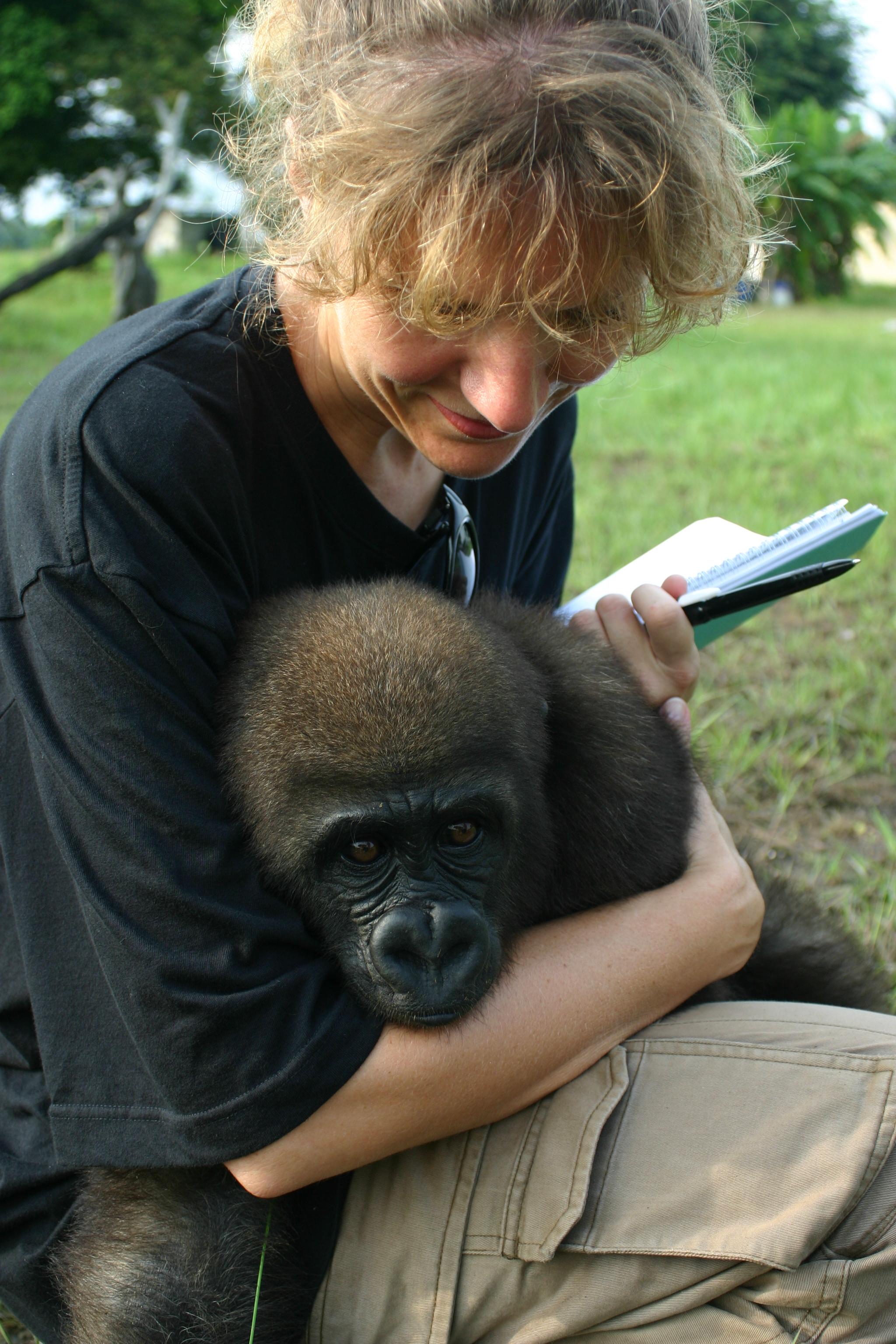 Astrid et Cessé à Evaro, Gabon