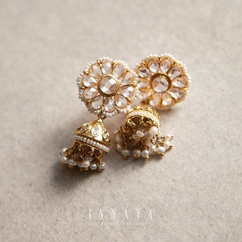 Daneen Jhumki Earring Gold