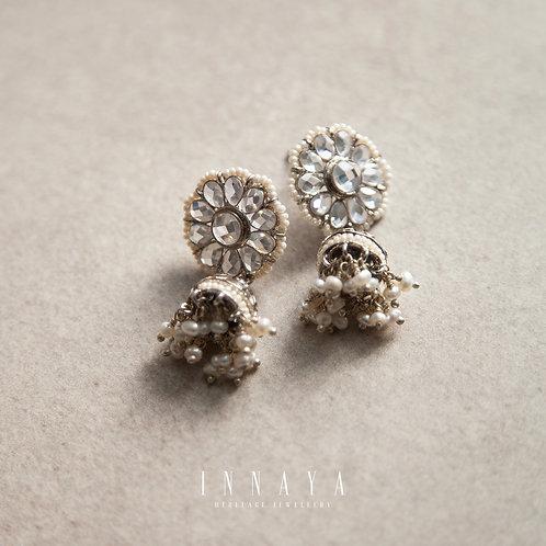 Daneen Jhumki Earring Silver