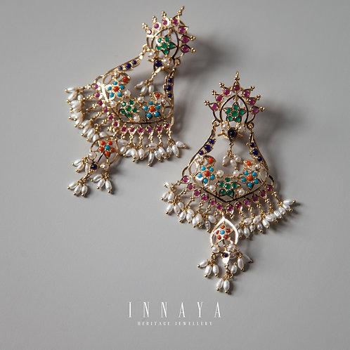 Maham Multi Stone Earrings