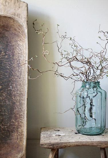 Scalloped Glass Pickle Jar - Vintage