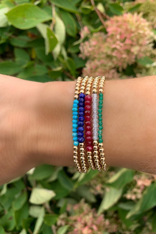 3mm 14K Gold Filled Band Bracelets -Pick Your Colors!