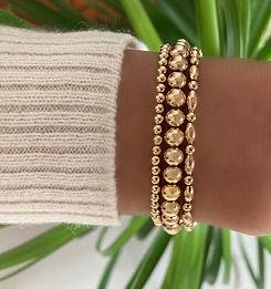 Gold Filled Stretchy Beaded Bracelets
