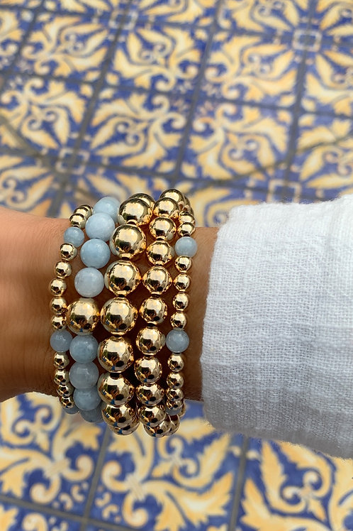 Chunky Bracelets with Amazonite