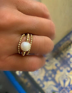 stretchy beaded rings