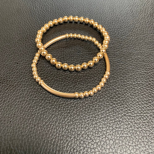 Bar Bracelet and 5mm Bracelet