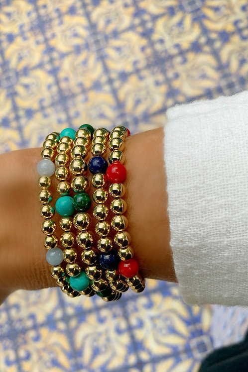 6 Stone Bracelet comes in 5 Colors!