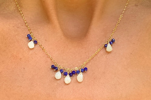 Lapis and Moonstone Bouquet