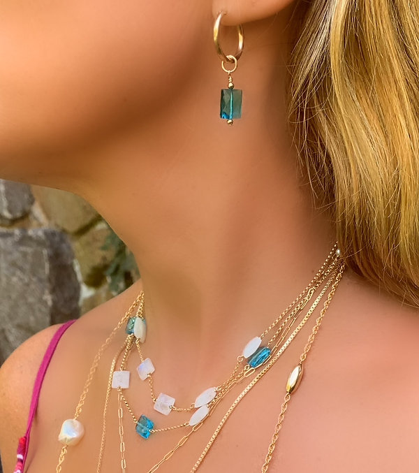 Chiclet Necklaces and Bracelets