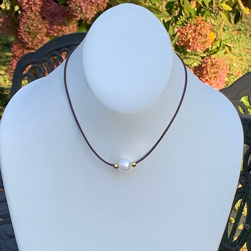 Signature White Nene Necklace with 14K Gold Filled Rondelles