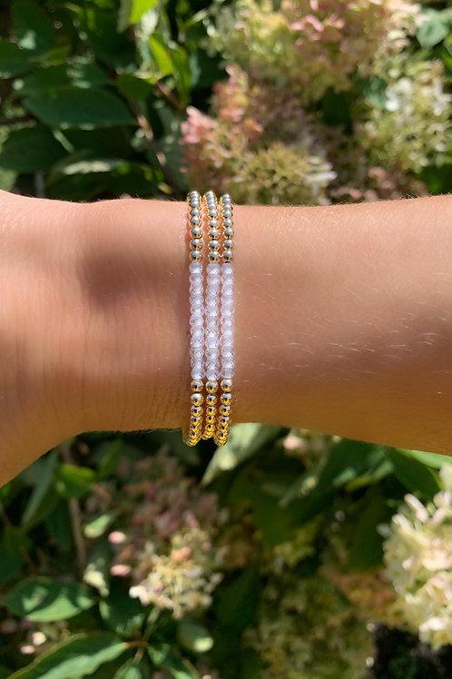 Moonstone 3mm Band Bracelets