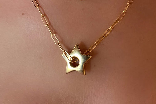 New14K Gold Filled Star and Reader Chain