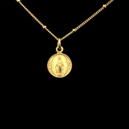 Small Miraculous Medal in 14k Gold Filled