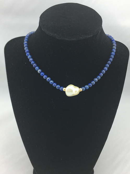 Stunning Lapis Choker Necklace