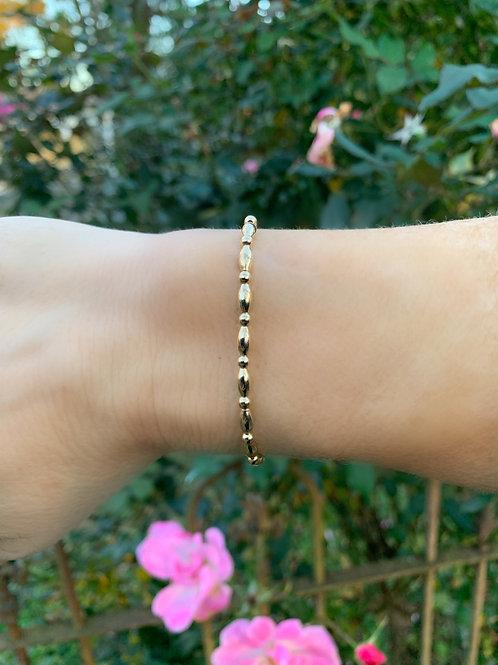 14k Gold Filled Tube Bracelet