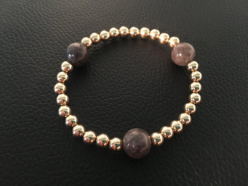 Crystal Gray Deo duPont 14K Gold Filled Bracelet