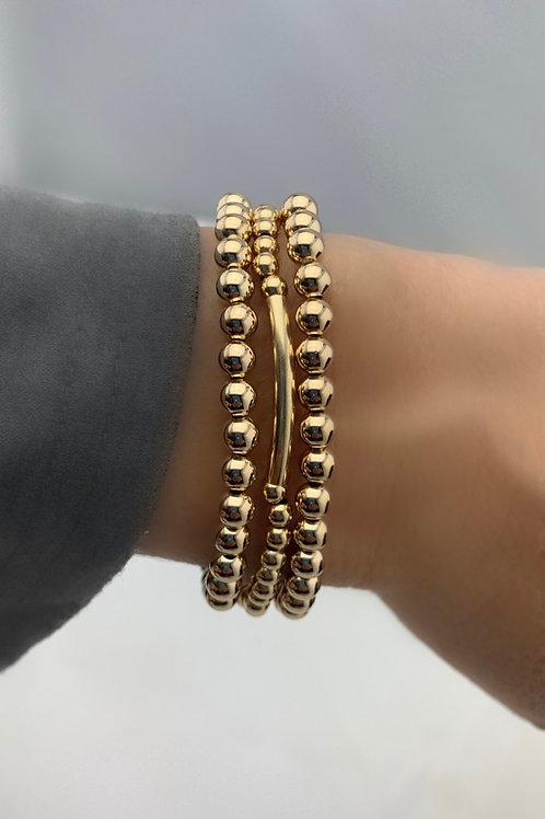 3 - 14k Gold Filled  Bracelet Bundle